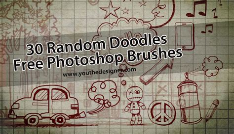doodle photoshop 30 random doodles free photoshop brushes you the designer