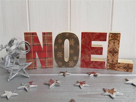noel wood letters small freestanding wood block noel sign handcrafted wooden