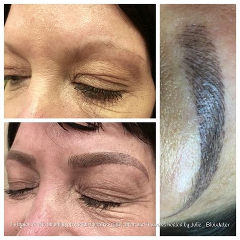 tattoo eyebrows in maryland before right after and healed microblading which is a