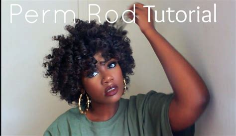 perm rod hair styles on natural hair perm rod set video black hair information community