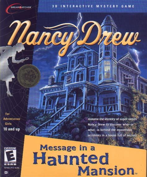 Drews A Cover by Nancy Drew Message In A Haunted Mansion 2001 Boy