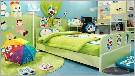 lihat contoh desain kamar tidur anak laki tema doraemon