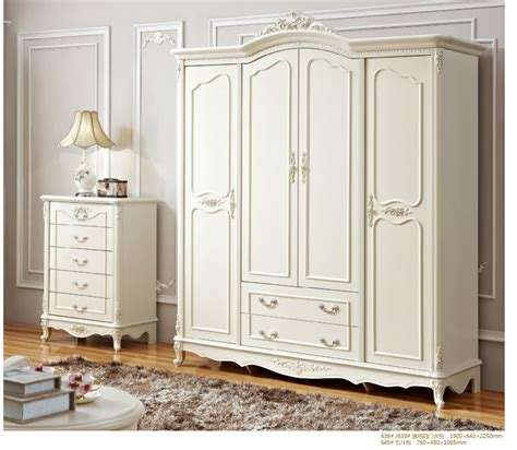 4 Door Armoire Wardrobe Antique Solid Wood Armoire Wardrobe Four Door White