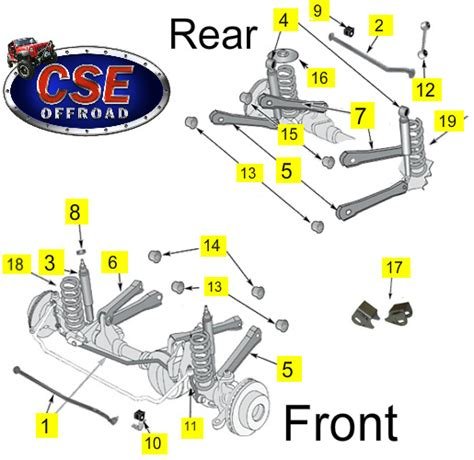 2001 jeep grand front end diagram shop by diagram replacement suspension parts jeep 1997