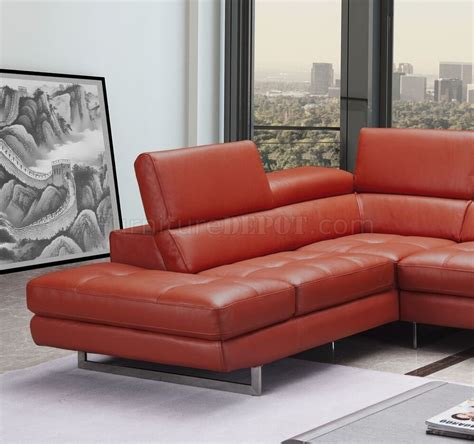 Sofa Venus venus sectional sofa in orange leather by j m