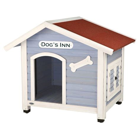 Trixie Dog S Inn Dog House In Blue White 39513 The Home Depot