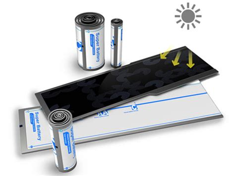 Can You Use Regular Rechargeable Batteries In Solar Lights Clever Battery Rolls Up Solar Power For Your Electronics