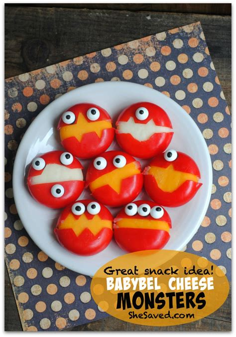 Easy Homemade Crafts For Kids - babybel cheese monsters 173 shesaved 174