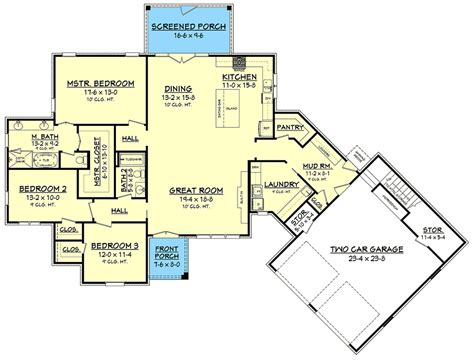 house plans open concept open concept house plan with 3 bedrooms 51776hz