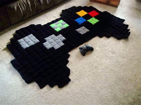 8 bit rug 8 bit crocheted rugs