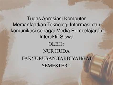 Teknologi Komunikasi Dan Informasi Pembelajaran Hamzah 1 ppt faid