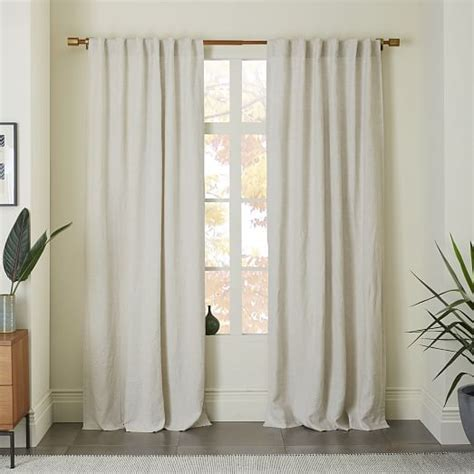 belgian linen curtain panels belgian flax linen curtain white west elm