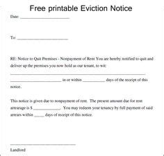 Blank Eviction Notice Form Free Word Templates Tenant Eviction Letter Copy That Free Eviction Notice Template Pdf