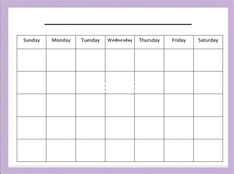 generic calendar template free printable blank calendar template pdf word calendar