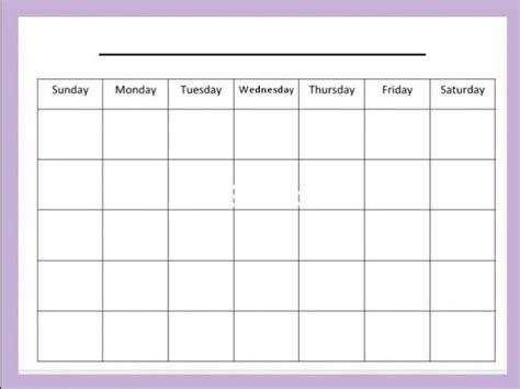 Galerry printable blank calendar monday through sunday