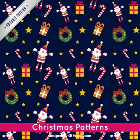 christmas pattern blue christmas navy blue pattern vector free download