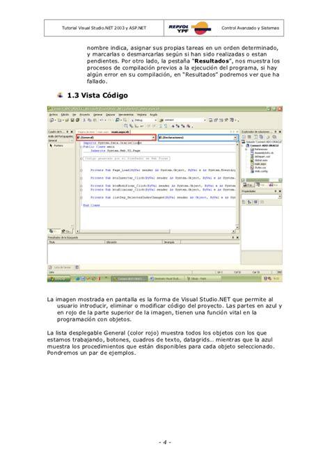 tutorial visual studio asp net repsol ypf tutorial asp net y ms visual studio net 2003