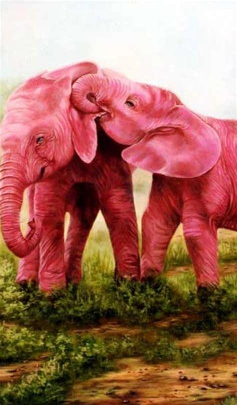 couple wallpaper for tab 600x1024 sweet pink elephants couple galaxy tab 2 wallpaper