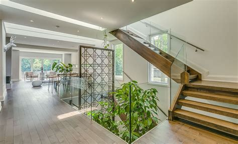 House Design With Interior Garden Garden Void Home In Toronto Boasts A Beautiful Multi Level