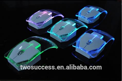 light up wireless mouse thin transparent luminous lights up colorful light