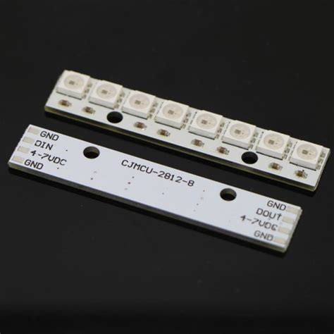 En Neopixel Stick 8 X Ws2812 5050 Rgb Led buy in india neopixel led containing 8 ws2812 rgb led from dna technology