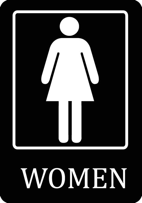 Large Bathroom Signs Womens Bathroom Black Sign Large 12 X 18 Restroom Signs