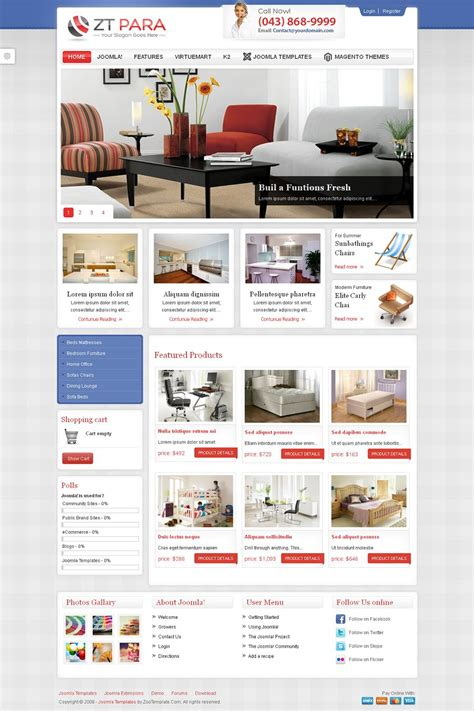 zt para premium joomla shopping cart template