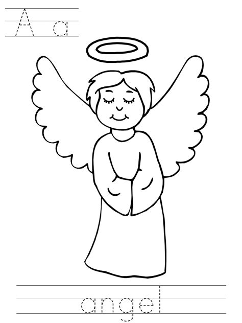 coloring page angels angels coloring pages