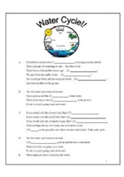 Water Cycle Reading Comprehension Worksheet by Water Cycle For Kindergarten Worksheets Water Cycle