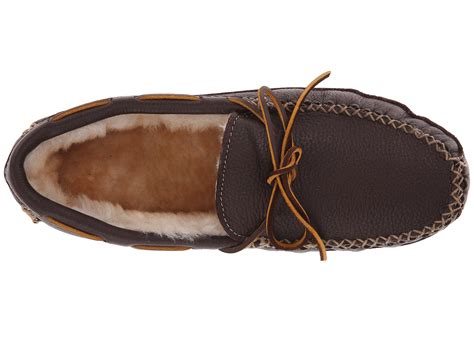 sheepskin lined slippers minnetonka sheepskin lined moose slipper at zappos