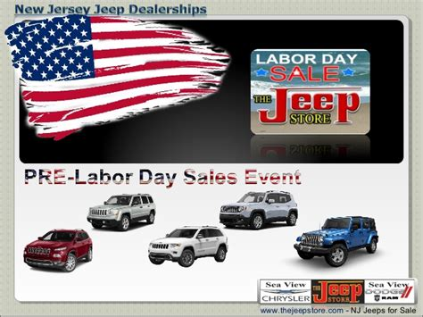 jeep store nj new jersey jeep dealership labor day sales event