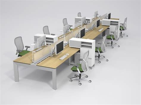 allsteel benching work stations a n office systems portable cabins