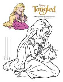 rapunzel 13 colouring pages