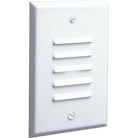led mini step lights with louvers progress lighting progress led white vertical louvered