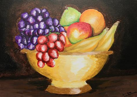 Bowl Of Fruits by 58 Fruit Bowl Paintings Fruit Bowl Painting