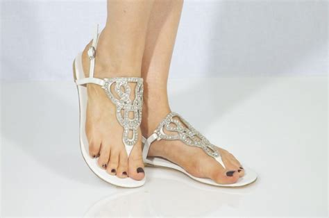 braut sandalen flach flat wedding sandals beach wedding sandals shoesales