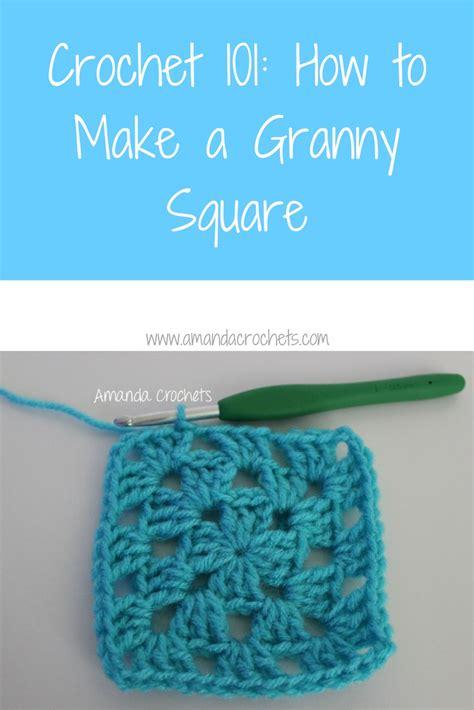 how to make a granny square amanda crochets
