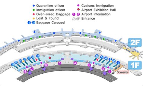incheon airport floor plan seoul incheon international airport maps of arrivals and