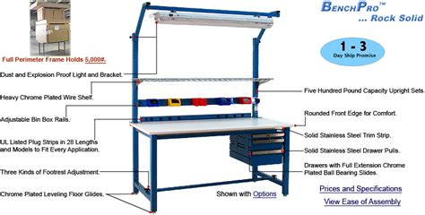 kennedy work bench benchpro work bench 800 326 4403 nationwide shelving