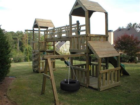 backyard play structure plans how to build a wooden swinging bridge woodworking