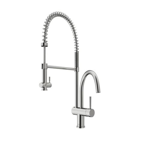 stainless steel kitchen faucet with pull spray vigo single handle pull sprayer kitchen faucet in stainless steel vg02006st the home depot