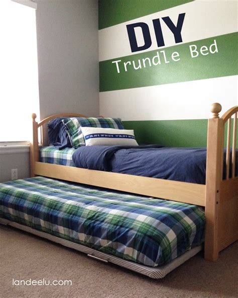 diy pallet trundle bed diy trundle bed landeelu