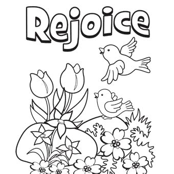 easter coloring pages for sunday school preschool rejoice free n easter from trading
