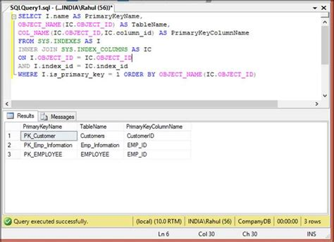 sql create table with foreign key sql server get primary key constraint and foreign key