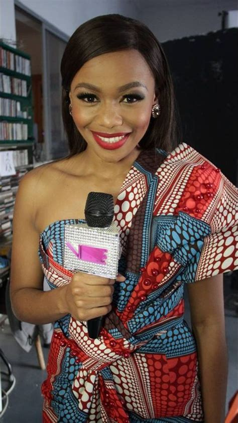 south african celebrities in african print traditional wear