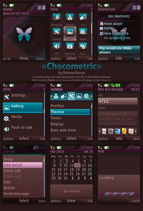 themes for java s40 mobile heat blog spot nokia s40 theme chocometric