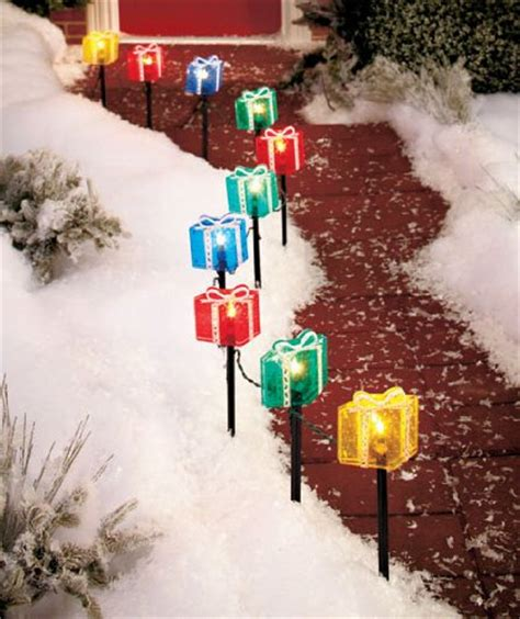 christmas presents pathway lights christmas wikii