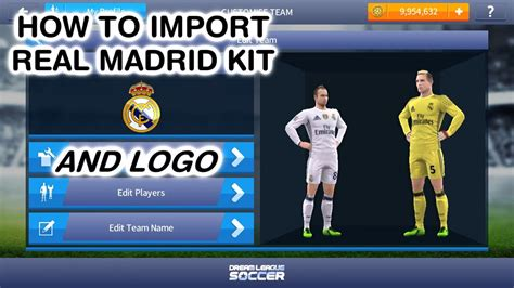 dream league soccer real madrid kits how to import real madrid kit dream league soccer 2017