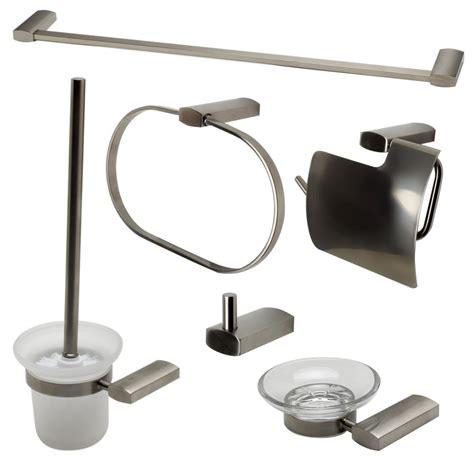 bathroom hardware sets brushed nickel alfi brand 6 piece bath hardware set in brushed nickel