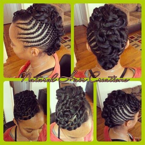 braided pin up hairstyles cornrow updo no hair added my work pinterest cornrow